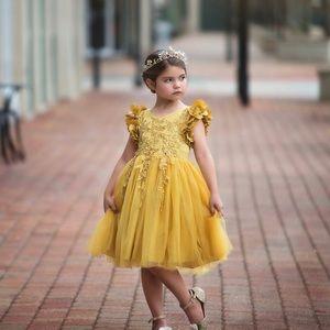Trish Scully BIANCA DRESS MUSTARD sz 8